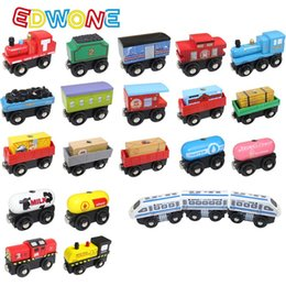 $enCountryForm.capitalKeyWord Australia - Edwone New 22 Designs Wood Magnetic Trains Car Locomotive Toy Educational Model DIY Mini Tender Fit Biro Thomas Tracks