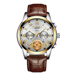 $enCountryForm.capitalKeyWord Australia - Brand new men's leather strap quartz watch luxury fashion business watch multi-function watch waterproof Wholesale free DHL shipping