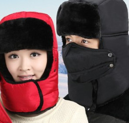 0a810406b65e1 Hot new style Women men fashion winter Thickening warm mask trapper hat cap