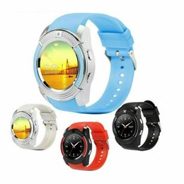 $enCountryForm.capitalKeyWord Australia - Smart V8 Watch Sleep Tracker Bluetooth Smartwatch Touch Screen Wrist Watch with Camera SIM Card Waterproof Smartwatch