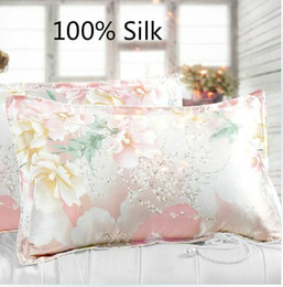 pair bedding Australia - Free Shipping 2pcs pair 100% Silk Pillowslip ,pillow Case,pillow Cover Bedding ,many Colors  Home Textile cheap good Quality Y19062103