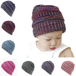 $enCountryForm.capitalKeyWord Canada - Designer Children Acrylic Winter Beanie Rib Knit Beanies Baby Fancy Head Ear Warmer Kids Slouchy Snow Cap For Cable Knitted Gorro Photo Prop