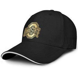 the latest 36764 baf52 Ohio State Buckeyes football logo Golden Unisex Mens Caps Woman Caps  Printed Cotton Snapback Flatbrim Hiking Hat Baseball Cap for Women