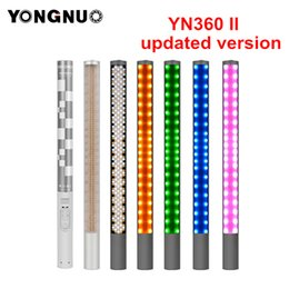 Wholesale lashes Accessories Flashes Yongnuo YN360 YN360 II Handheld Ice Stick LED Video Light built in battery k to k RGB colorful control