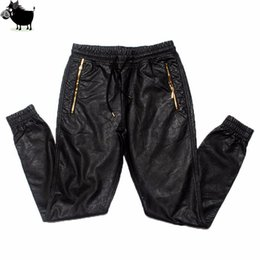 Discount big tall mens fashion - Man Si Tun New Kanye west Hip Hop big and tall Fashion zippers jogers Pant Joggers dance urban Clothing Mens faux leathe