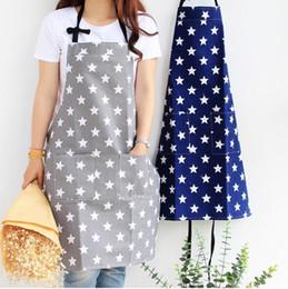 $enCountryForm.capitalKeyWord Australia - adult cotton Apron Kitchen Cooking Aprons stars DIY working dress cotton and linen