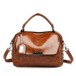 Multi Color Ladies Handbags UK - New Fashion Women Handbags Soft PU Leather Shoulder Bags Lady Large Capacity Solid Multi Color Female Casual Tote bag