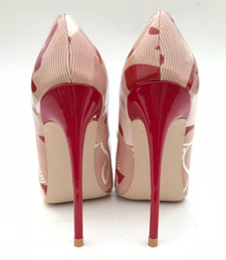 $enCountryForm.capitalKeyWord NZ - Ladies shoes bare leather stamp print pointy toe high heels bride wedding shoes true photo 12 cm 10 cm 8 cm