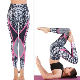 Wholesale good quality yoga pants for sale - Group buy New High Waist Women Printing Yoga Pants Female Training Leggings Ladies Running Fashion Slim Trousers Fitness Good Quality