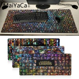 Large game mouse pad online shopping - Maiyaca Top Quality League of legend Champions Office Mice Game Soft Mouse Pad Laptop PC Computer Mat Large Mat gaming pad mouse