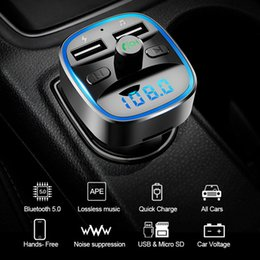 UniqUe mp3 player online shopping - Bluetooth FM Transmitter Wireless Bluetooth Car Kit Car MP3 Player Unique Display Screen Aux Modulator Handfree Fast Charger