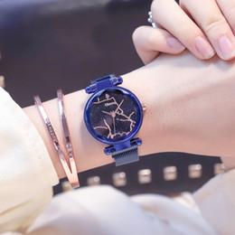 $enCountryForm.capitalKeyWord Australia - [with Bracelet]Korean Trend Fashion Magnet Starry Sky Watch Female Students Simple Ladies Casual Atmosphere Watch
