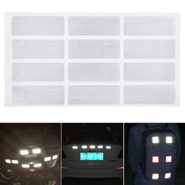 Body crystal stickers online shopping - 12pcs x CM PVC Crystal Lattice Security Warning Reflective Tape Car Body Sticker for Cars Trucks Motorcycles Bicycles
