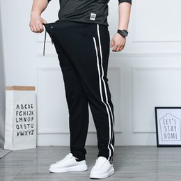 $enCountryForm.capitalKeyWord NZ - Spring Men's Casual Straight Pants Super Loose Sweatpants Men Joggers Side Stripe Trousers Tracksuit Bottoms Harem Track Pants