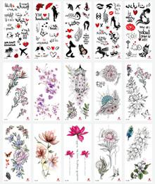 Fake tattoos Foot online shopping - Waterproof Temporary Tattoos Stickers Totem Flower Fake Tattoo Flash Tattoo Body Art Hand Foot for Girl Women Men RRA1453