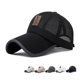 branded baseball mesh caps 2019 - Unisex Solid Casual Summer Mesh Hats Men Snapback Mesh Baseball Caps Casquette Bone Gorras Hot Sale Cheap Brand Baseball