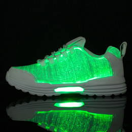 fiber optic colors Australia - Size46 Waterproof Running Shoes Luminous Sport Fiber Optic Shoes for Couple LED 7 Colors USB Rechargeable Sneakers with Light 12