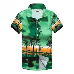 5f8432f0 Mens Beach Shirt Aloha Hawaiian Shirt Men Short Sleeve Palm Tree Printing  Shirts Summer Quick Drying Shirts Part Surfing Holiday
