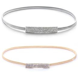 $enCountryForm.capitalKeyWord Australia - Gold Silver Loaded Elastic Chain Waist Belt Women High Quality Decorative Female Belts for Dresses