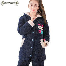 7cc4155750 Pajamas Female Winter Thicker Coral Velvet Korean Sweet Women Pajama Sets  2018 Fashion New Warm Flannel Home Service Suits PR472