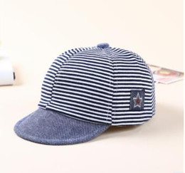 101b812f Baby Hat Baby Duck Tongue Children's Baseball Cap Korean Version Boys and  Girls Sun Cap Baby Striped Tide Cap