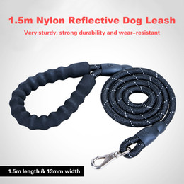 $enCountryForm.capitalKeyWord Australia - Nylon Round Reflective Dog Leash with Comfortable Padded Handle Night Safety Pulling Rope Training Walking Leash Pet Supplies