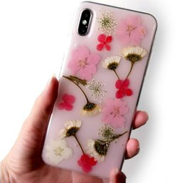 Silicone Pop Phones Australia - Hyun flower for iPhonex max Epoxy phone shell dried flowers real flower Epoxy mobile phone protective shell Cell Phone Cases pop