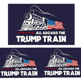 WindoW Wall decor online shopping - 2020 trump car sticker Donald Trump locomotive stickers Train window Sticker Home Living Room Decor Wall Stickers MMA1744