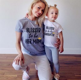 Discount family black matching clothes - Mother and Daughter Matching Outfit Family Matching Outfits Clothes Set Mother T-shirt Baby T Shirt Letter Print Tee