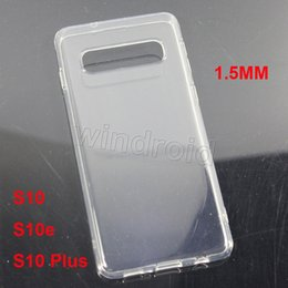 Cheap Back Case Australia - 1.5MM Thick TPU Case Anti-Knock Clear Crystal Soft Transparent gel Case Back Case high quality For Samsung note9 note 9 S10e S10 plus cheap