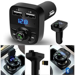 $enCountryForm.capitalKeyWord Australia - Car Kit Handsfree Wireless Bluetooth FM Transmitter LCD MP3 Player USB Charger Mussic Player for iPhone 7 Samsung Huawei Xiaomi