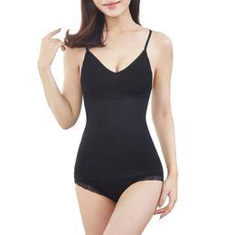 $enCountryForm.capitalKeyWord UK - Sexy V-Neck High Elastic Waist Shape Control Camisole Vest Corset Sleeveless Crop Tops Solid Body Seamless Tank For Women