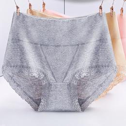 Natural Cotton Underwear Australia - Panties Sexy Lace Panties Underwear for pregnant women Cotton Lace High Waist Abdomen Breifs Underpants Panties Underwear