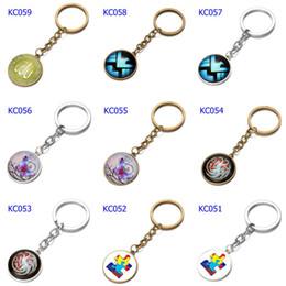 Car Ball Games Australia - 66 Styles Alloy Keychains Harry Potter Elvis Car Keychains Time Gem Single Side Cartoon Games Bags Keychain Mix Order