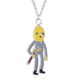 Kids jewelry rope chain online shopping - Adventure Time Lemongrab Jake Finnn Choker Necklace Cute Cartoon figure Pendant Necklace for Women Men Kids Christmas Jewelry