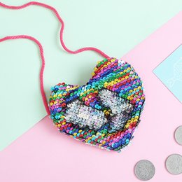quality fashion accessories Australia - Summer Accessories New Fashion Kid Girl Children Sequined Shoulder Bag Crossbody Heart Mini Bags Luxurious Coin Packet
