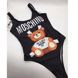 52dde0d6682 Designer MOSC Small Bear Fashion Luxury Swimwear Bikini for Women Letter  Brand Swimsuit Bandage Bi Quinis Sexy Bathing Suit