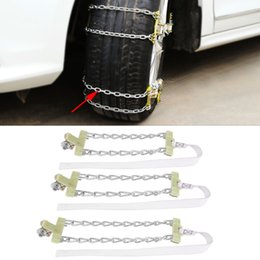 Discount security chain - Tire Anti-skid Steel Chain Snow Mud Car Security Tyre Belt Clip-on Chain for Car Truck SUV Auto Tire Accessories