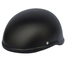 German Half Helmets Australia - 2019 Hot sale WWII Motorcycle Helmet vintage Half Face Helmet Retro German Chopper Cruiser Matte Black helmets Free Shipping