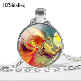 $enCountryForm.capitalKeyWord Australia - 2019 NEW Cute Frog Painting Hand craft Jewelry Glass Dome Pendant Delightful Frog Glass Dome Photo Pendant Necklace HZ1