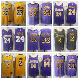 dfa0306a950 Los Angeles Kobe 24 Bryant Laker Jerseys 23 LeBron James Lonzo 2 Ball  Brandon 14 Ingram Kyle 0 Kuzma Kobe 8 Bryant Jersey