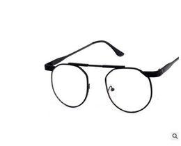 China 2019 New Korean Version Of Metal Retro Round Men's And Women's Eyeglasses Frame, Literary Style Ultra-Light Flat Wear Myopia Glasses suppliers