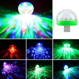 $enCountryForm.capitalKeyWord Australia - 5V Mini USB Lumiere RGB LED Music Stage Light Show Club Disco DJ Light Laser Projector Sound Control Crystal Magic Ball Effect Lights