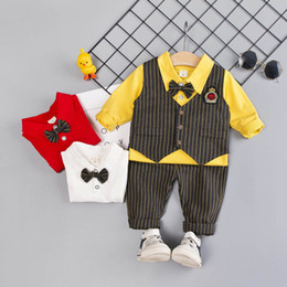 $enCountryForm.capitalKeyWord Australia - new baby boy clothes baby suits baby infant boy designer clothes boys clothing sets waistcoat+t shirt+ trousers 3pcs set A6904