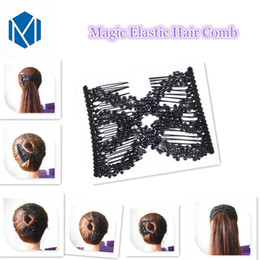 Comb Clips metal online shopping - M MISM Hair Combs Double Magic Slide Metal Comb Clip Hairpins for Women Hair Accessories New Jewelry