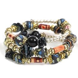 $enCountryForm.capitalKeyWord Australia - Bohemian Beads Multilayer Imitation Natural Stone Bracelets For Women Ethnic Crystal Charms Bracelets &Bangles Gift
