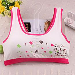 Cotton Tanks Australia - women cotton tank tops New Lovely Bra Underwear Bra Vest Children Underclothes Sport Undies Fashion Printing vest for girls
