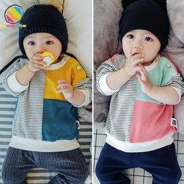 Lemonmiyu Baby Autumn Felpe in cotone per ragazzi Neonato Causale Toddler Bambini Top O-Collo Manica lunga Baby 0-3T T-shirt di moda in Offerta