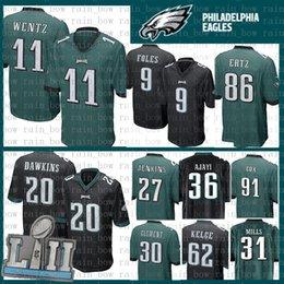 9 Nick Foles Top 11 Carson Wentz-Trikot Philadelphia Eagles 20 Brian Dawkins 86 Zach Ertz 62 Jason Kelce 27 Jenkins Jeffery 30 Clement Mills