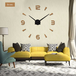 unique analog watches Australia - Big Number Mirror Wall Clock Modern Design Large Designer Wall Clock 3D Watch Wall Unique Gifts Home Decoration Acrylic + EVA